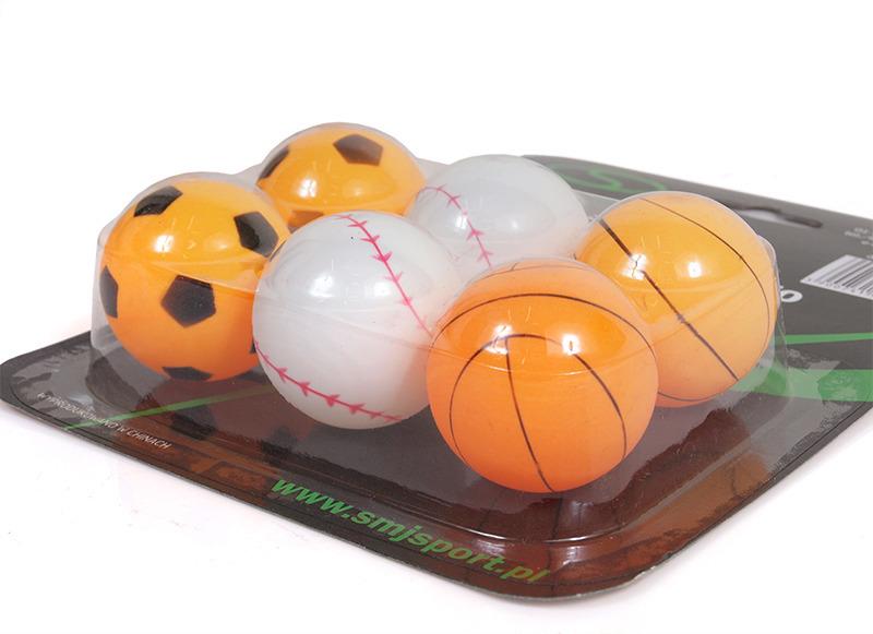 Piłeczki do ping ponga SMJ Sport BM620 outdoor kpl. 6szt.