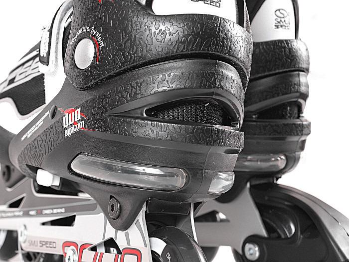 Rolki regulowane Smj Sport 090A czarne ABEC-7