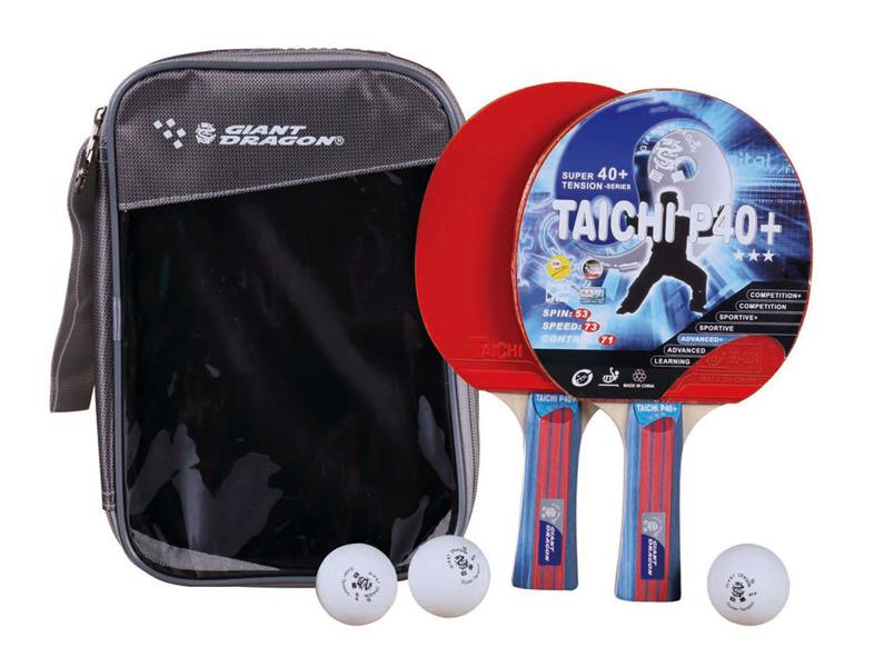 Zestaw 2 rakietki + 3 piłeczki  + pokrowiec Taichi P40+  Giant Dragon  RST12305P40+